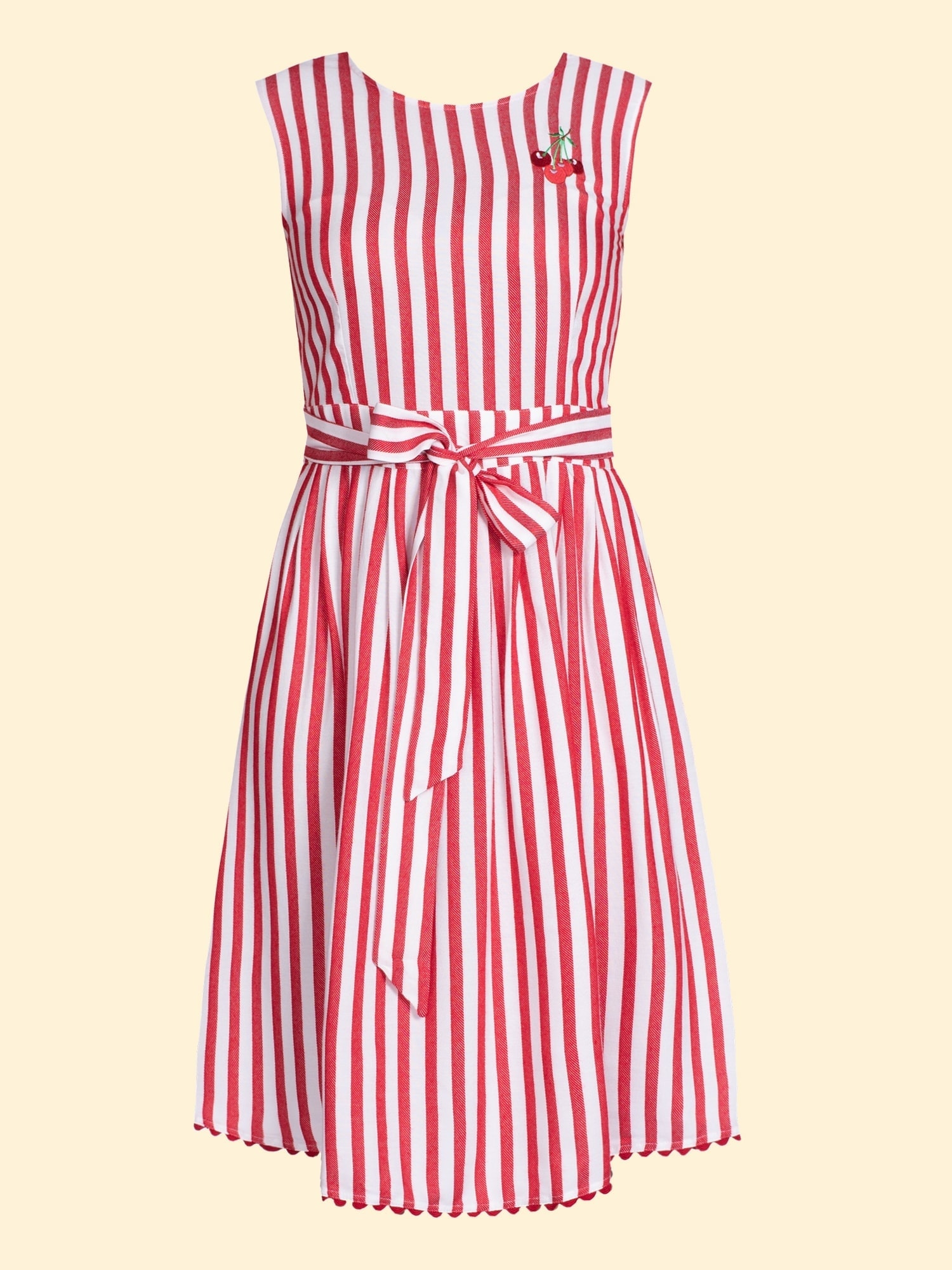 Kleid rot weit