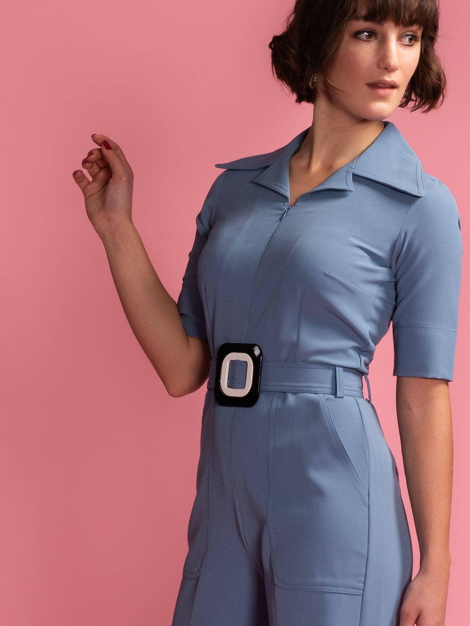 966b1a928dfc Vintage Baby Jumpsuit - Stone Blue - Mademoiselle YéYé