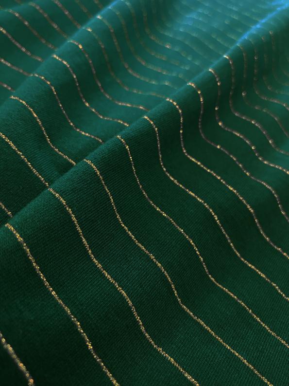 stripes green gold