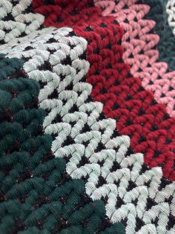 stripes knit jacquard